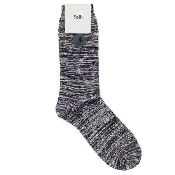 Folk Melange Socks - Black Melange