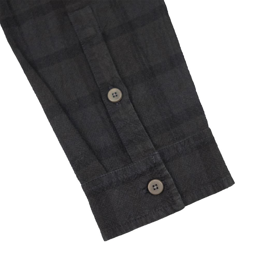 Folk Patch Shirt - Black Overdyed Check