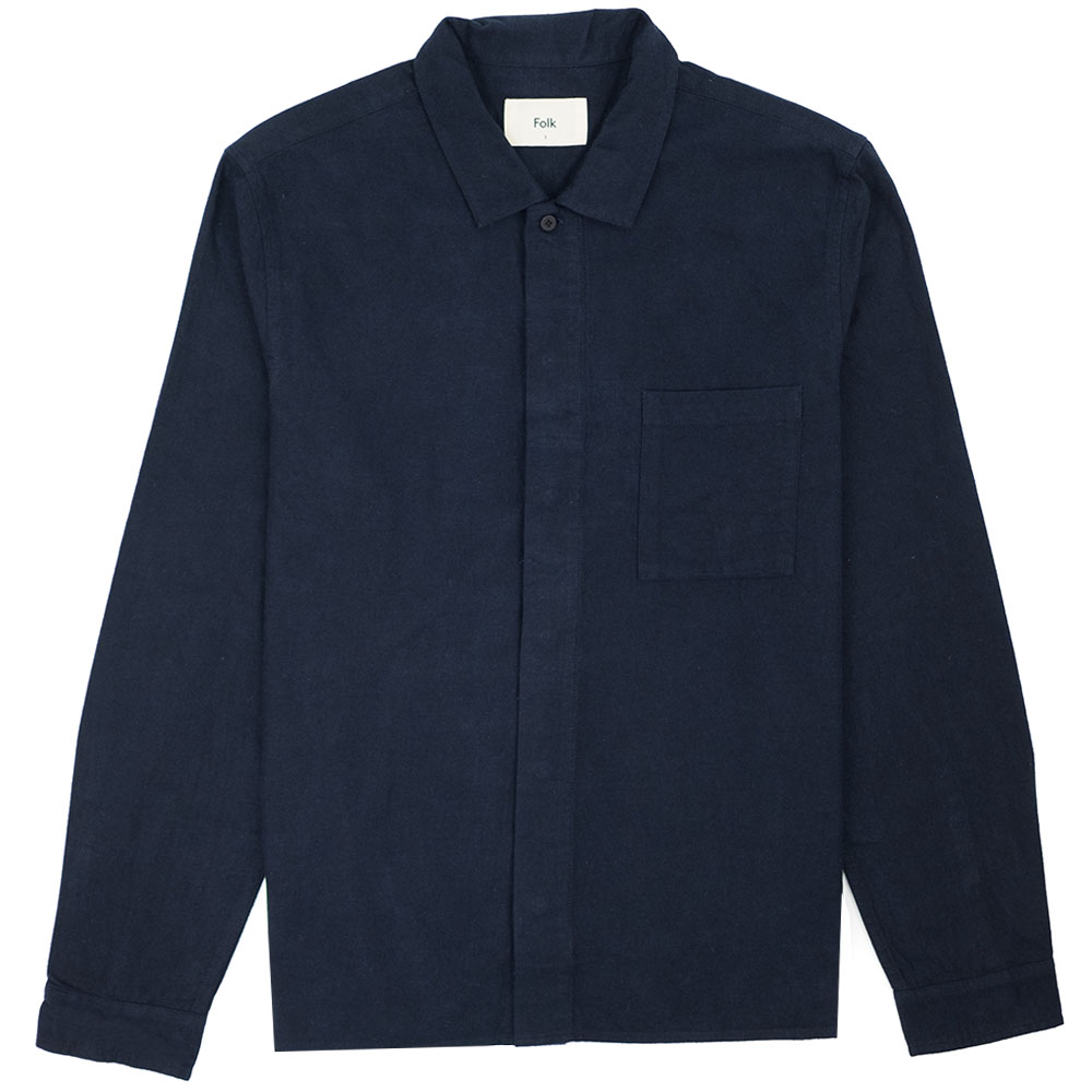 Folk Patch Shirt - Navy