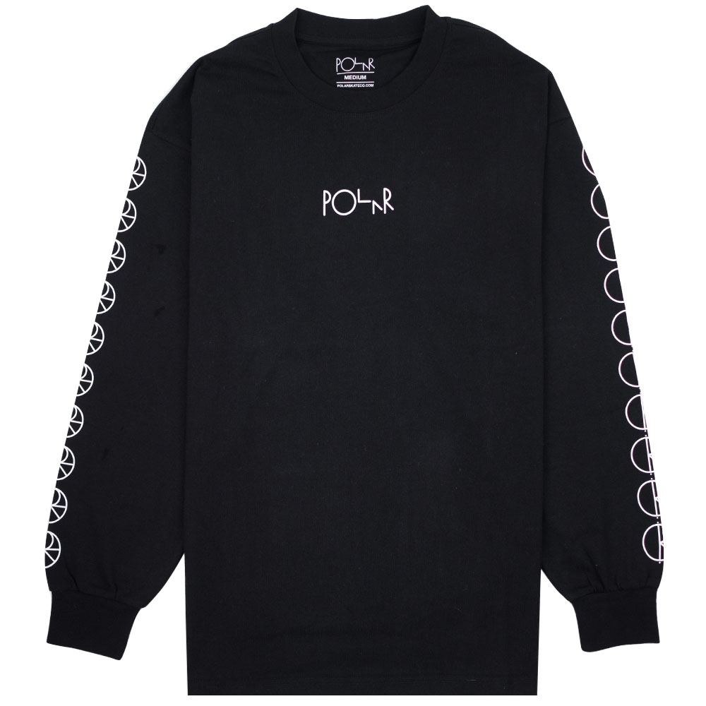 Polar Skate Co. Racing Longsleeve Tee - Black