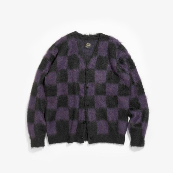 NEEDLES MOHAIR CARDIGAN - CHECKERED