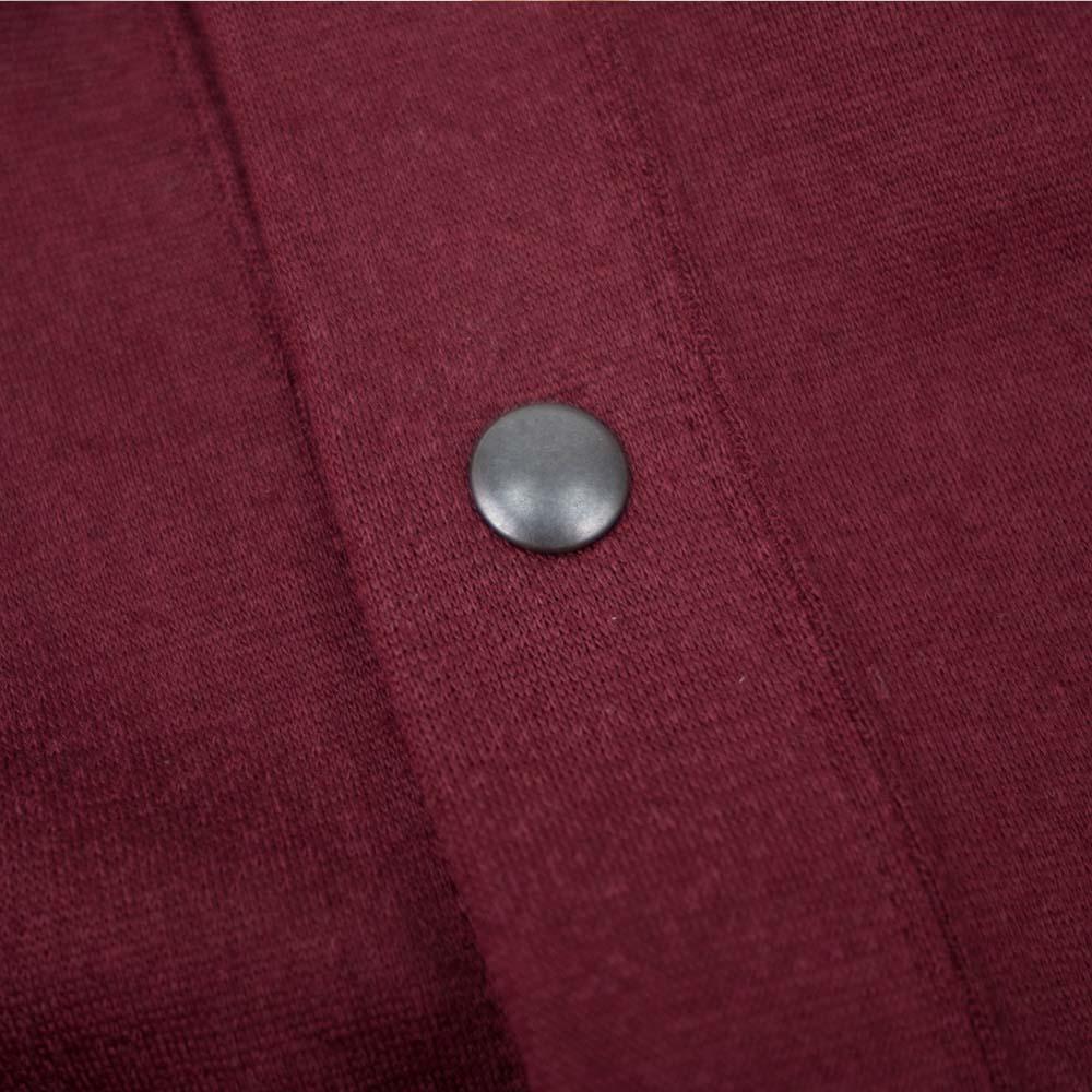Stevenson Overall Co. Detachable Hooded Athletic Jacket - Burgundy