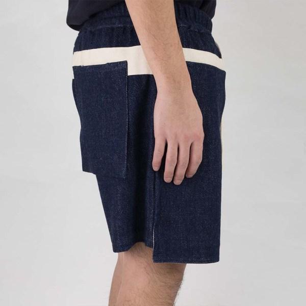 Kuro Loose Denim Baker Shorts - Indigo