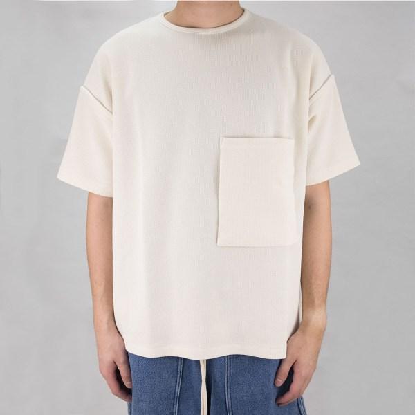 Kuro Sleeve Topped Russellish Jersey Tee - Off White