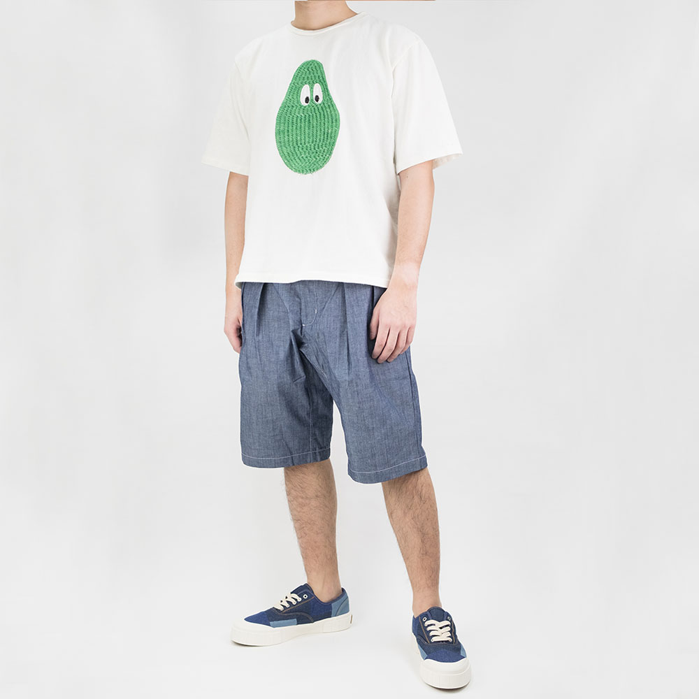 Monitaly 3D Avocado Embroidery S/S Tee - Off white