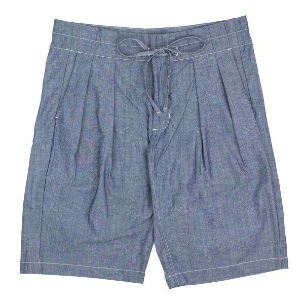 Monitaly Drop Crotch Shorts - Chambray
