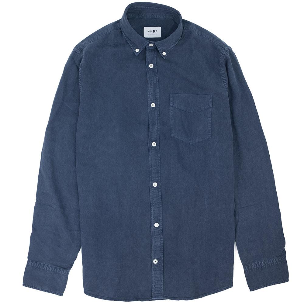NN07 Levon Lyocell Shirt - Navy