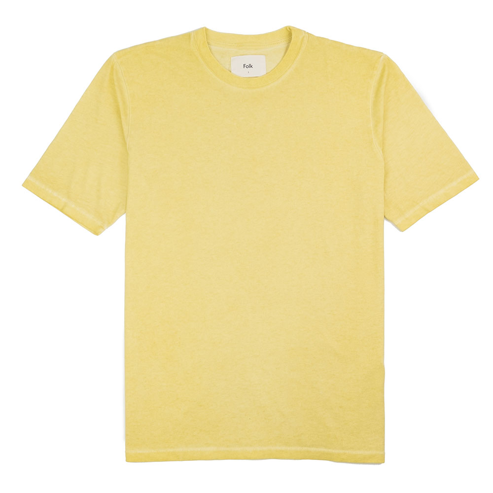 Folk Contrast Sleeve Tee - Cold Dye Light Gold