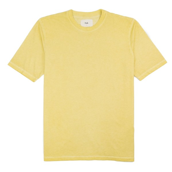 Folk Contrast Sleeve Tee - Cold Dye Light Gold