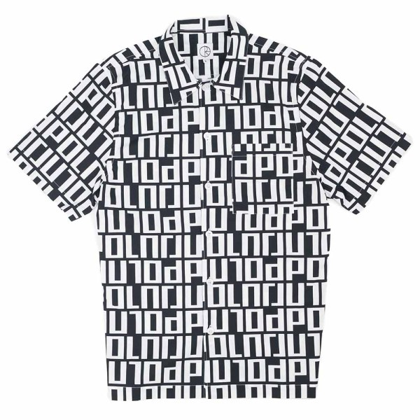 Square Logo Shirt - Black / White