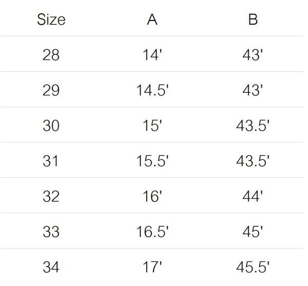 230 jeans size