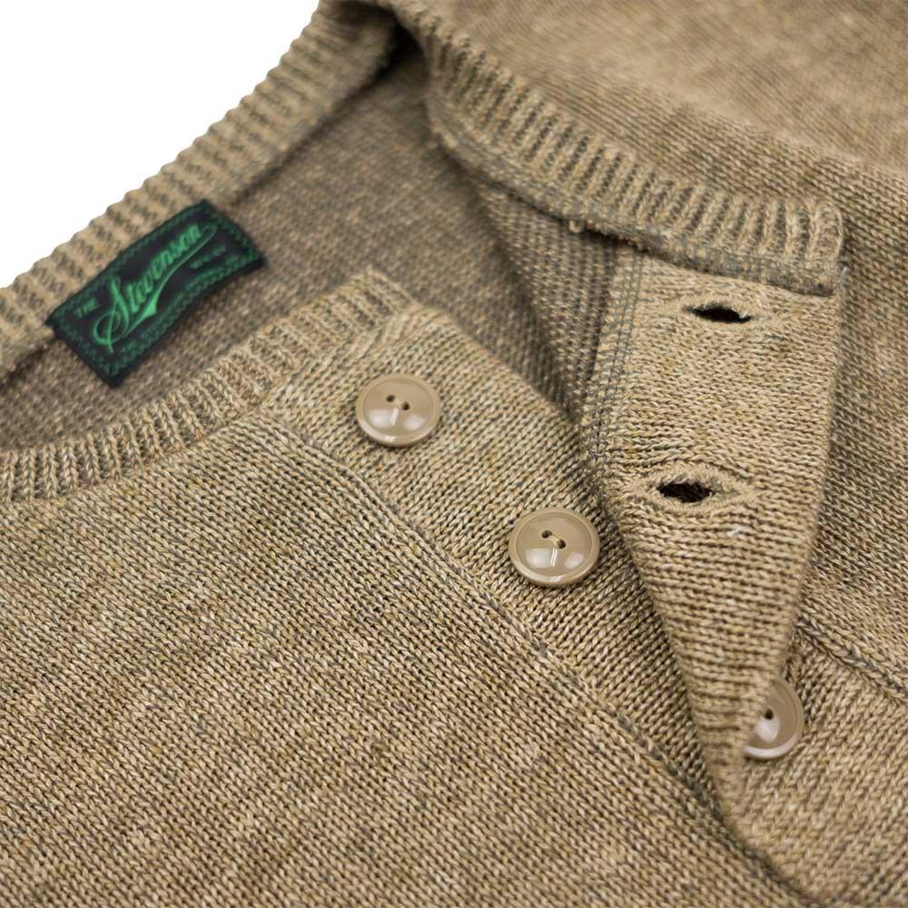 Stevenson Overall Co Knit Henley - Olive