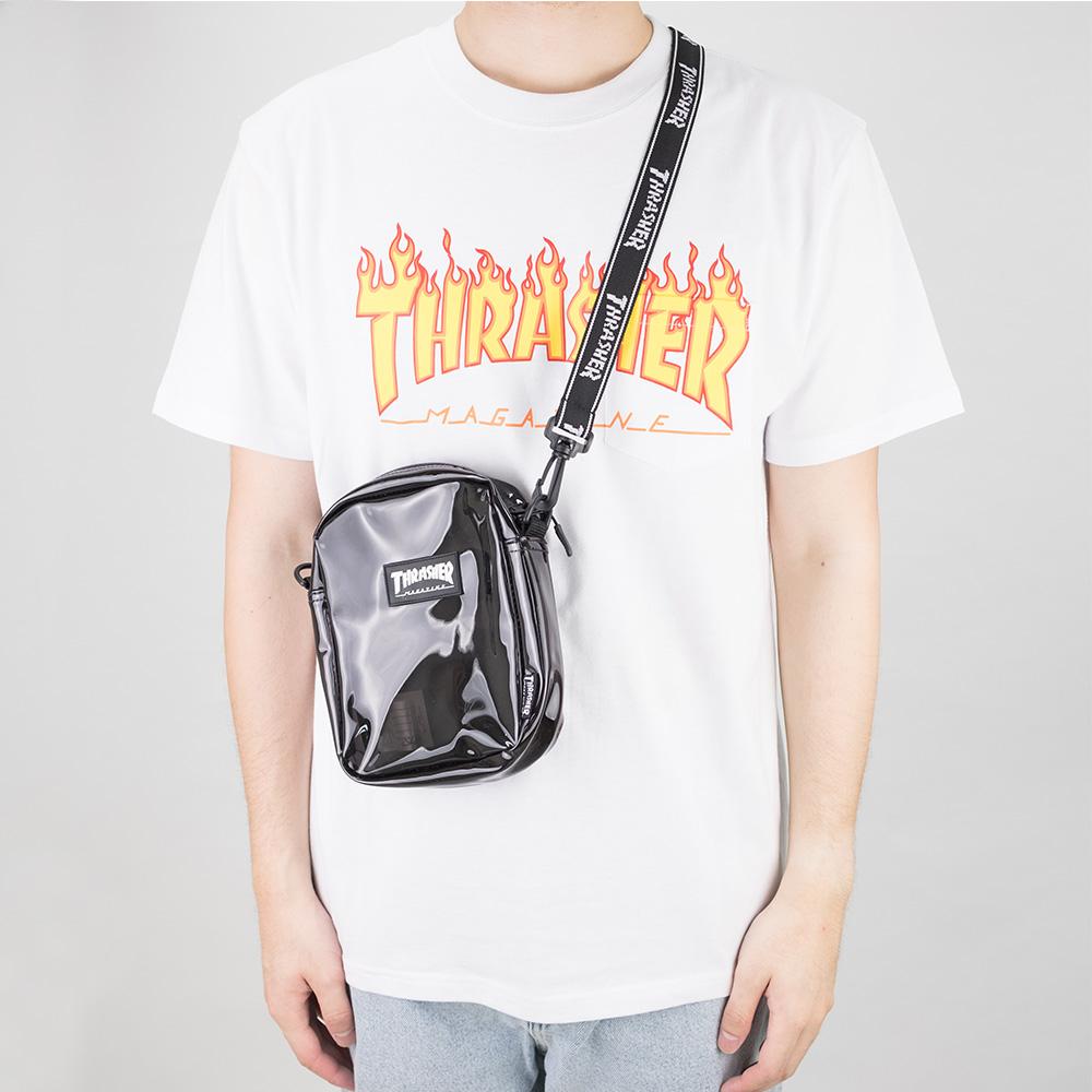 Thrasher (Japan) Hometown Clear Shoulder Bag - Black