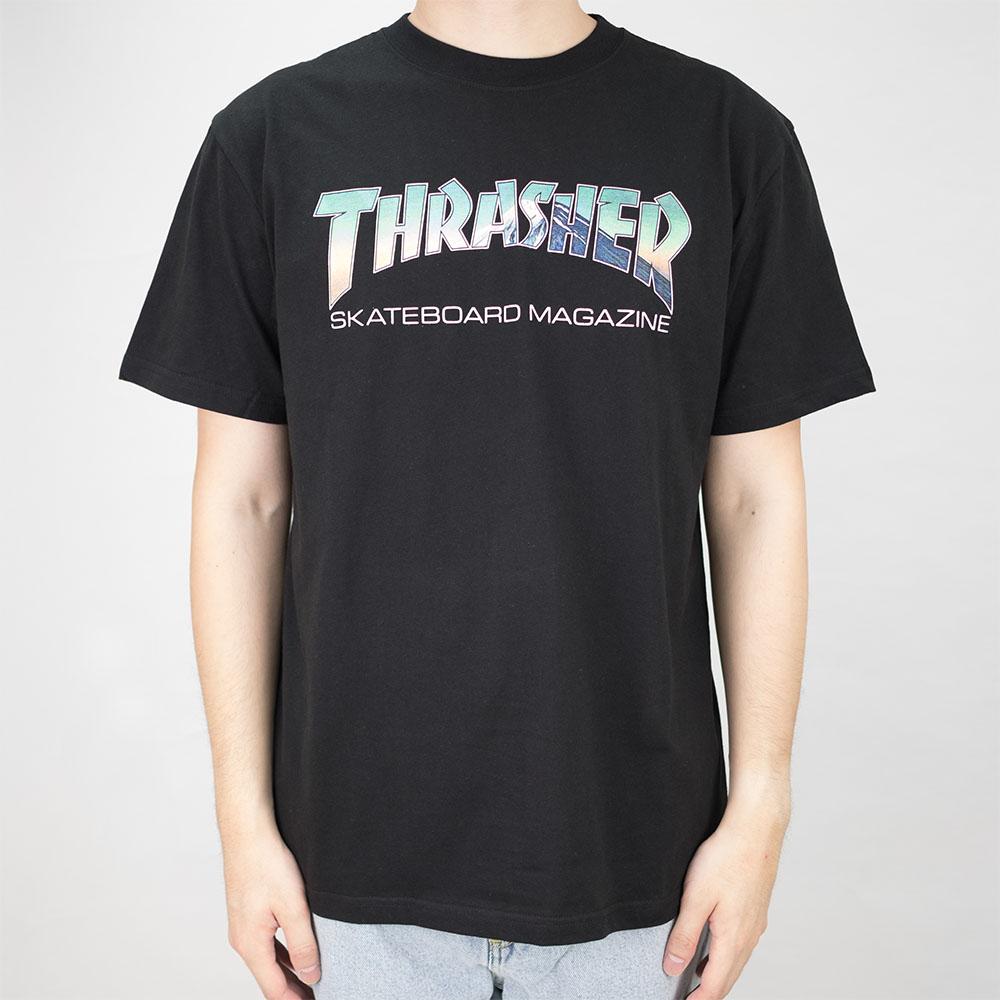 Thrasher (Japan) Hometown Mag Fujisan S/S T-Shirt - Black