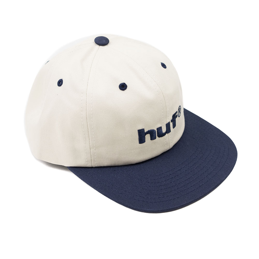 HUF 98 Logo 6 Panel Hat - Off White
