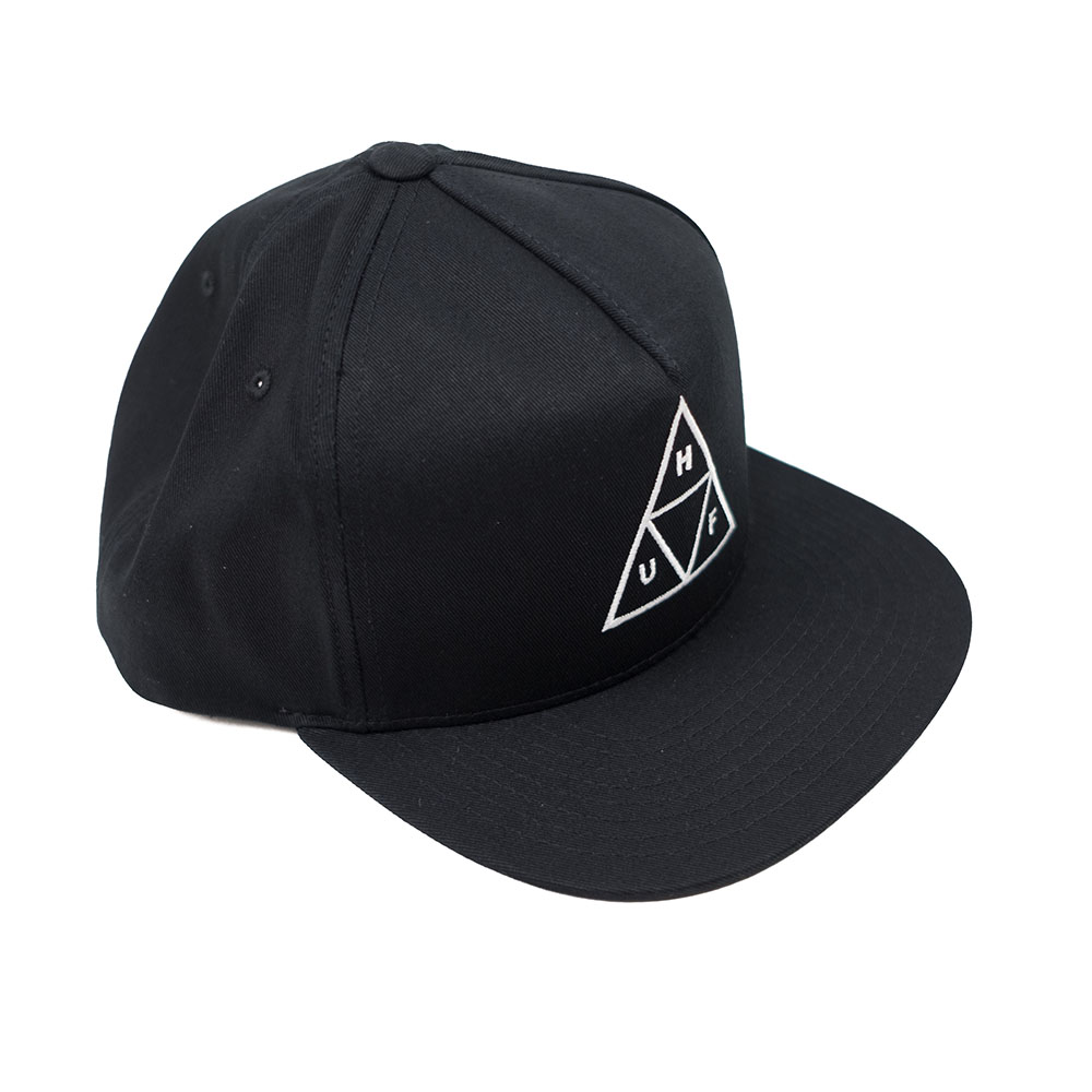 HUF Essentials Tt Snapback Hat - Black