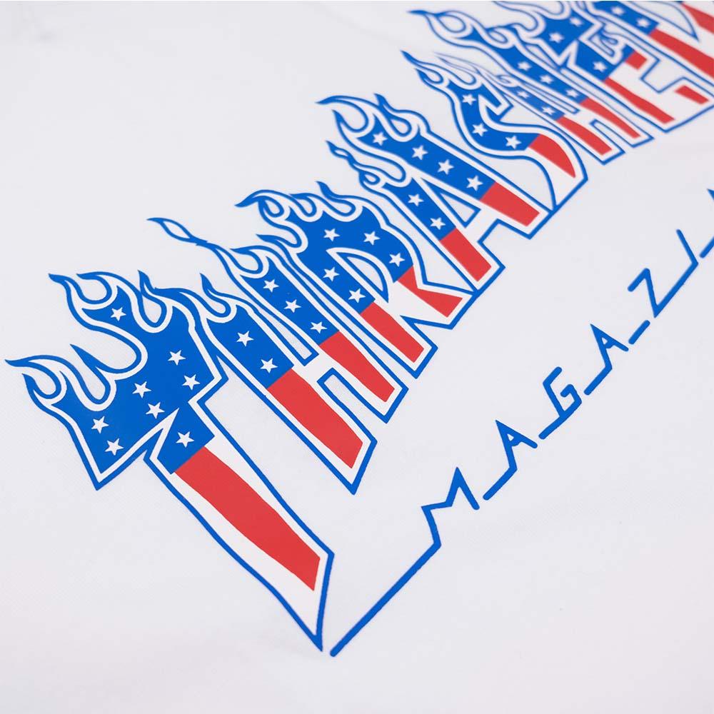 Thrasher (Japan) Flame Patriot S-S T-Shirt - White 4