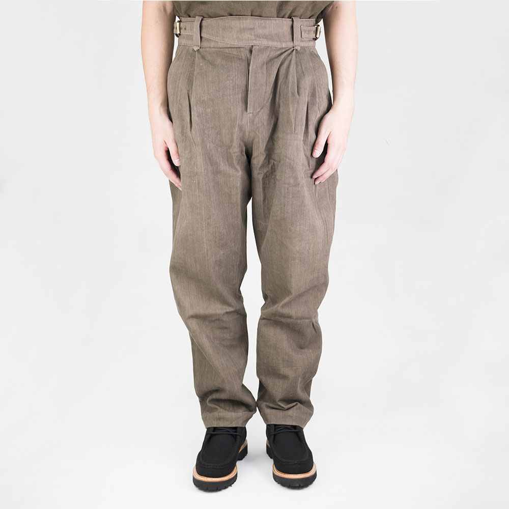 Taproot Hand Dyed Gurkha Pants - Khaki