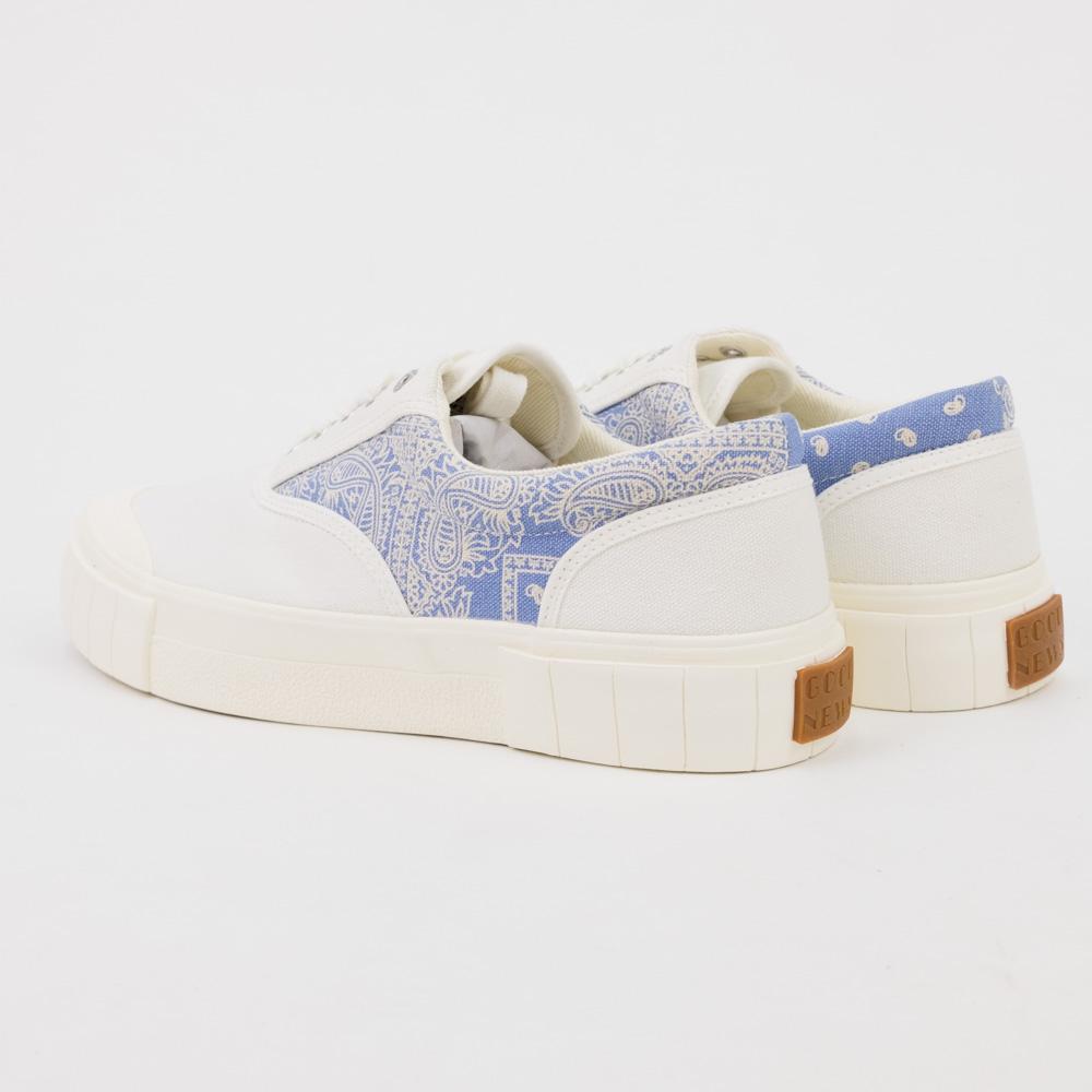 Good News Opal Paisley Sneaker - White/Blue