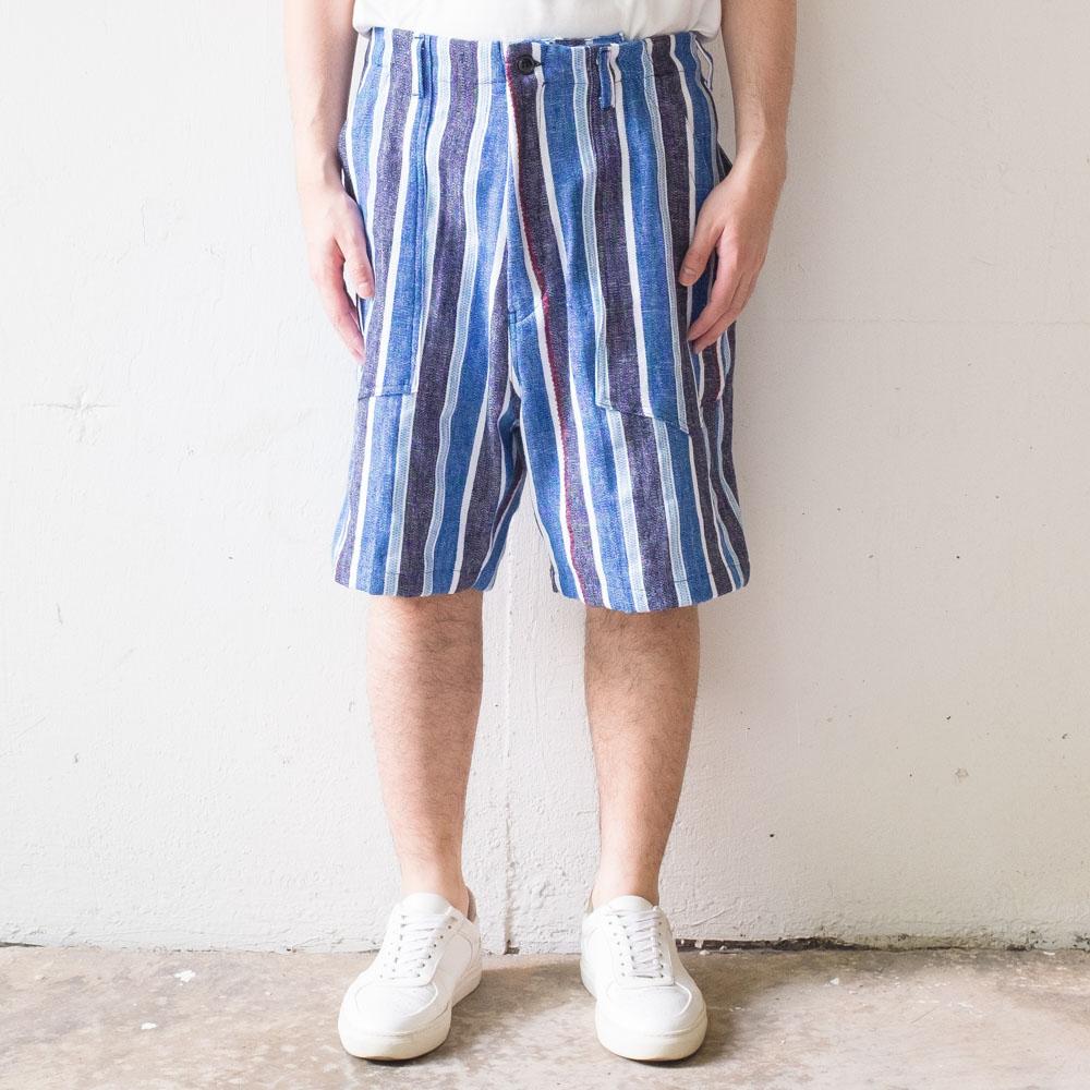 Monitaly Fatigue Shorts - Indigo Mud Cloth