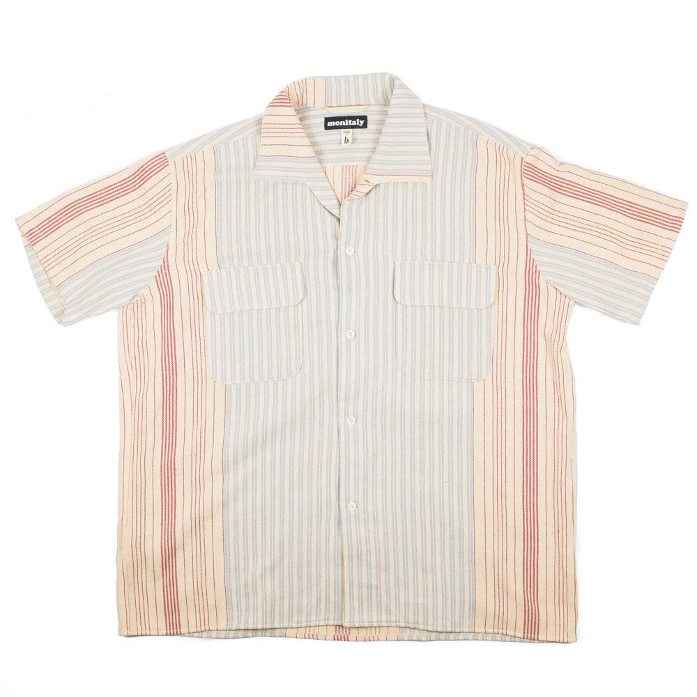 Monitaly S/S 50's Milano Shirt - Gunny Sack Stripe