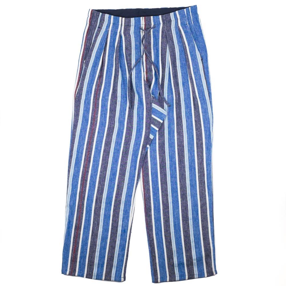 Monitaly Wide Drop Crotch Pants - Indigo Mud Cloth