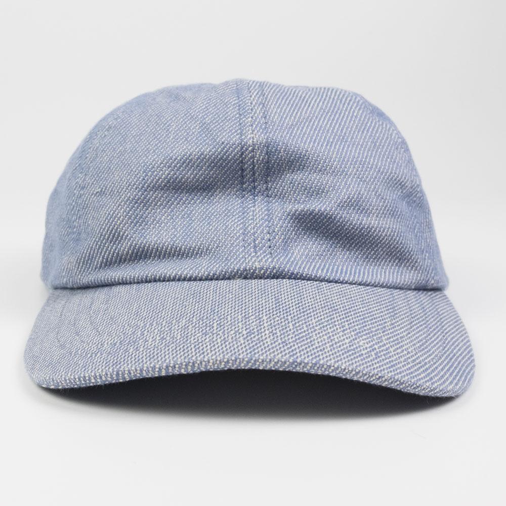 Folk 6 Panel Hat - Woad Twill
