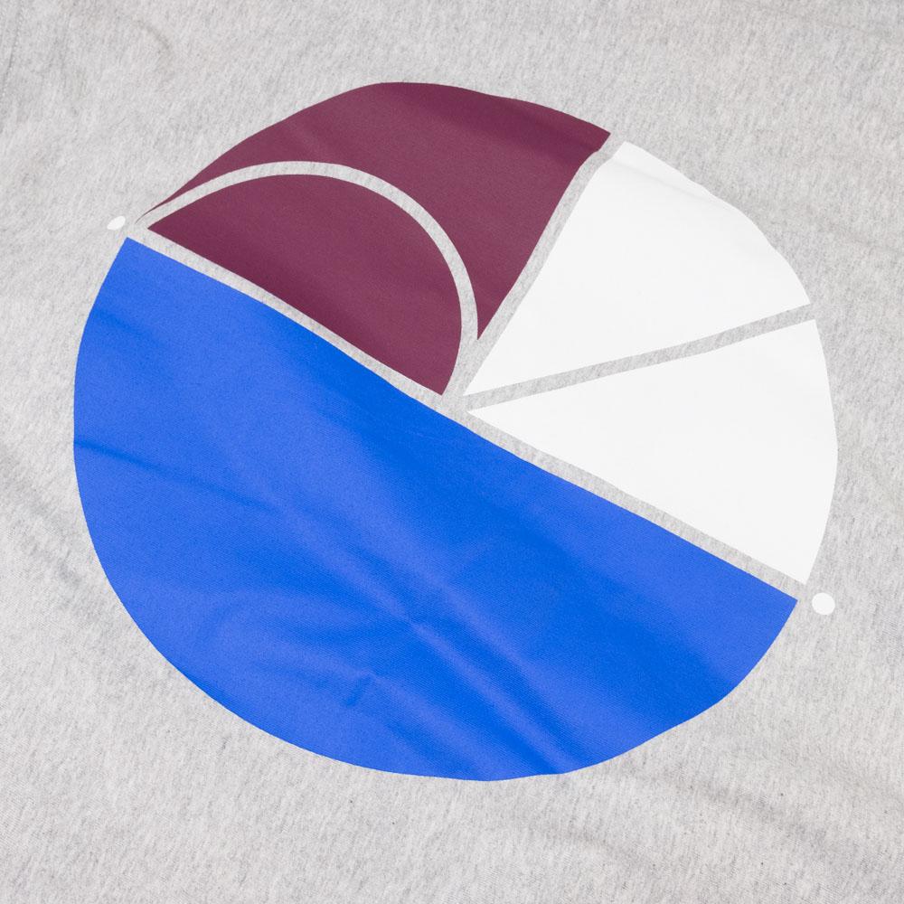 Polar Skate Co. 3 Tone Fill Logo Tee - Sport Grey