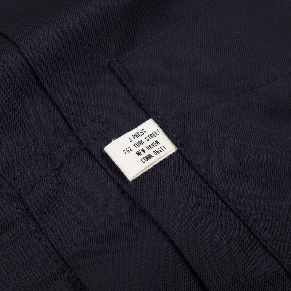 Kuro x J.Press Clear Sarge Worsted Wool Big Jacket - Navy