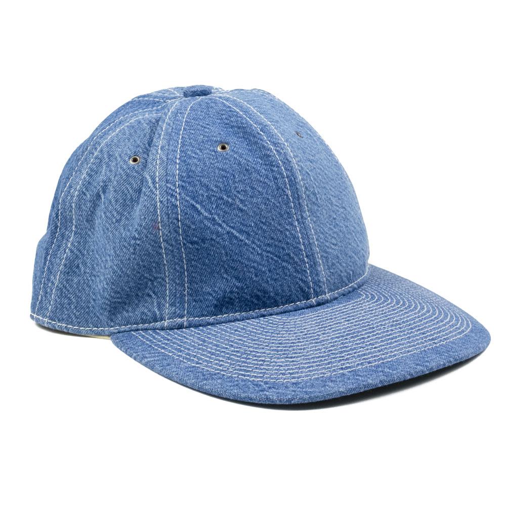Kuro x J.Press Poten Classic Baseball Cap - Faded Indigo