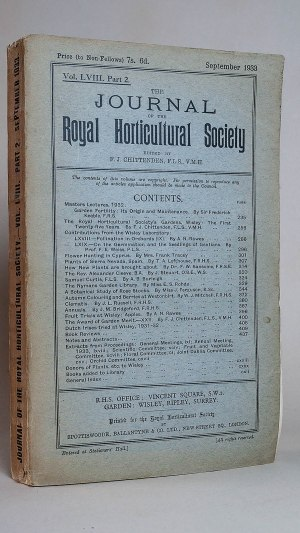 The Journal of the Royal Horticultural Society Vol. LVIII Part 2. February 1933