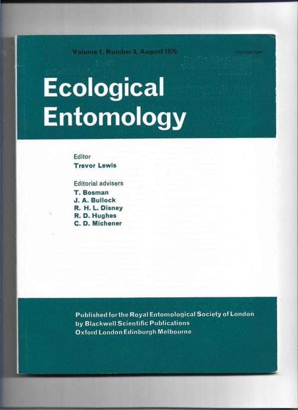 Ecological Entomology