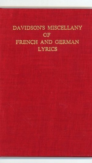 Davidson's Miscellany of French and German Lyrics