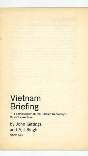 Vietnam Briefing: a Commentary on the Foreign Secretaries Oxford Speech