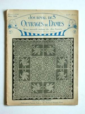 Journal des Ouvrages de Dames No.444 Mars 1925 Revue Mensuelle Pratique Des Arts Feminins