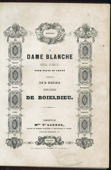 La Dame Blanche Opera Complet pour Piano