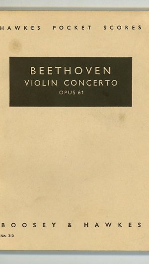 Beethoven Concerto for Violin and Orchestra D Major Op. 61