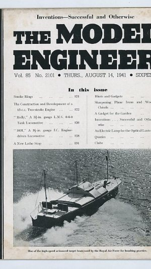 The Model Engineer Vol. 85 No.s 2101 & 2102 Thurs., August 14 & 21, 1941