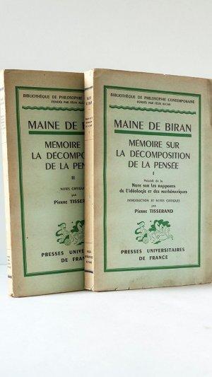 Mémoire sur la Décompostion de la Pensée Volumes I and II