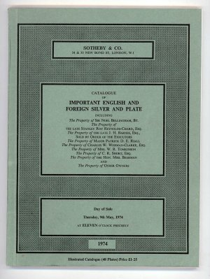 Catalogue of Important English and Foreign Silver and Plate.