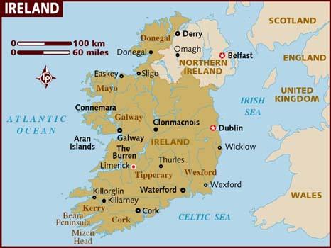 andorreando mapa Irlanda