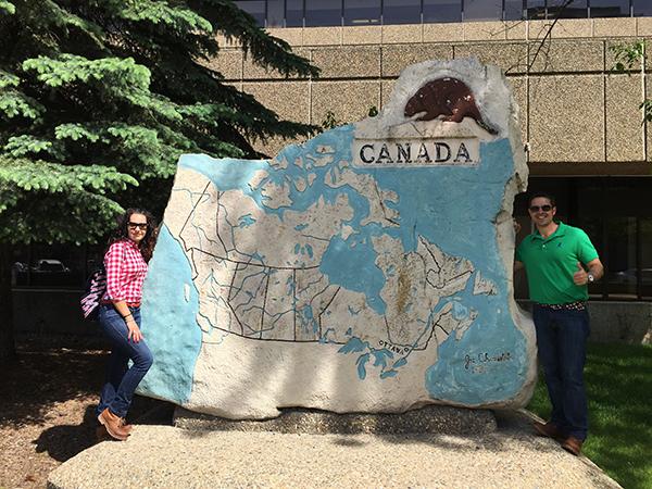 Escultura Mapa Canadá