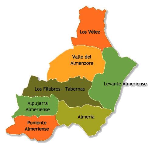 Andorreando Mapa Comarca de los Vélez