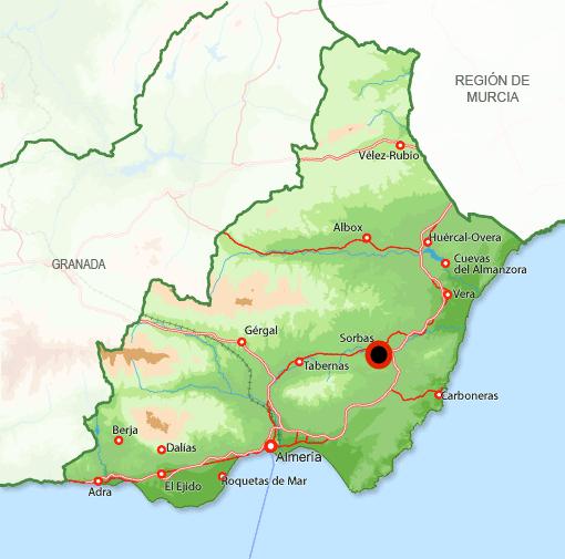 Mapa Sorbas