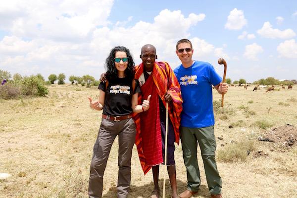 jefe Tribu Maasai-Andorreando por el Mundo