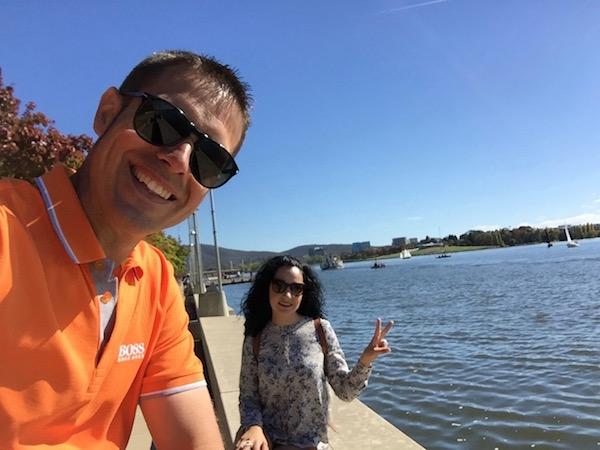 Lago Burley Griffin-Andorreando por el Mundo