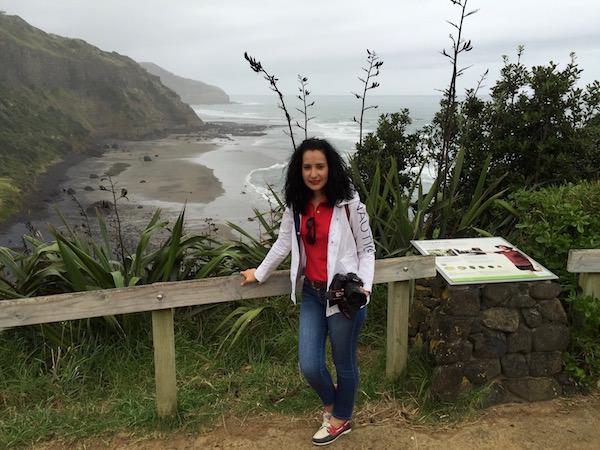 Playa Muriwai-Andorreando por el Mundo..