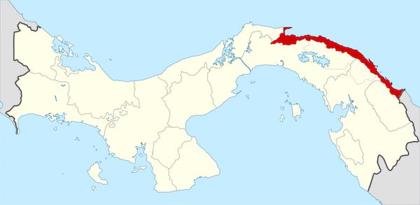 Mapa Guna Yala - Panamá