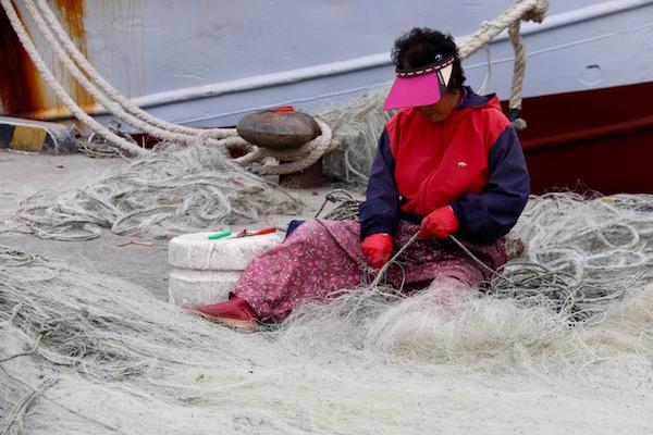 Pescadora Puerto Guryongpo