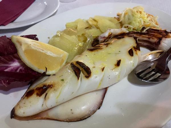 Calamar Plancha